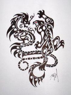 Tiger dragon tattoo designs