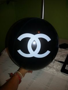 Chanel Balloons 12 inch by MaFersCreations on Etsy, $2.50