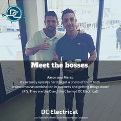 Meet the Bosses - the powerhouse combination of brains and tradesman-ship behind DC Electrical.⠀ ⠀ Aaron (left) and Marco (right).⠀ ⚡⚡⚡⚡⚡⠀ Don't be surprised if this is the last photo you'll see of them for a while! Hard To Get, Conditioning, Brisbane, Boss, Meet, Ship, Ships, Yachts