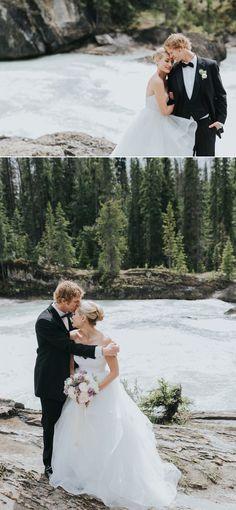 Emerald Lake Wedding natural bridge