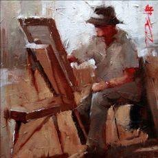 Painter. Andre Kohn - painting, period I.
