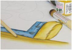 Pintura em tecido - passo a passo - Ursinho Bily