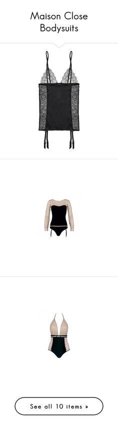 """Maison Close Bodysuits"" by maisonclose ❤ liked on Polyvore featuring intimates, underwear, black, black bustier, corset bustier, lace corset lingerie, bustier corset, black corset, bags and handbags"