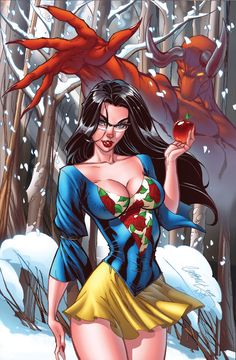 Snow White | Line Art by J. Scott Campbell [©2009-2014] | Color by Nei Ruffino [©2009-2014 ToolKitten]