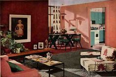 50s lounge room - Google Search