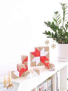 Love this eye-catching, versatile Advent calendar from SNUG Studio