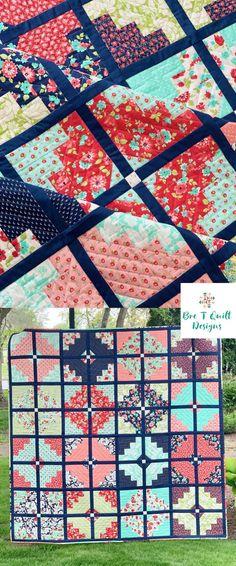 Fat quarter modern quilt pattern Scrap Quilt Patterns, Modern Quilt Patterns, Fat Quarter Projects, Diamond Quilt, Quilt Designs, Easy Sewing Projects, Diamond Cuts, Pattern Design, Quilting