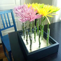 Maybe I can do something like this with the flower tubes I have in my stash.