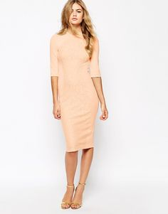Image 4 of River Island Lace Panel Fitted Dress