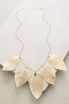 Golden Leaf Bib Necklace