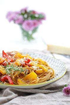 One-Pot-Pasta mit Paprika © Tulpentag
