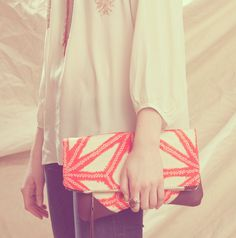 Need: NOMAD Collection - STELLA Leather & Kimono Clutch
