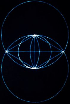"""JOJO POST GEOMETRY: Name?? vesica piscis. when I saw this symbol for the first time, i felt i found something i'd been looking for all my life. it's interpretation: """"The joining of God and Goddess...?? the flower of Life.""""?? - Danielle"""