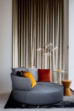 Home Decoration; Leather sofa;Three Seat Sofa;Two-seat Sofa; Contemporary Interior Design, Contemporary Furniture, Interior Design Living Room, Condo Furniture, Furniture Design, Interior Exterior, Luxury Interior, Single Sofa Chair, Round Sofa