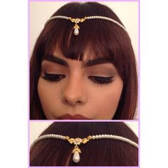 Vintage inspired Dainty Headpiece Tiny Pearls with by INGcouture