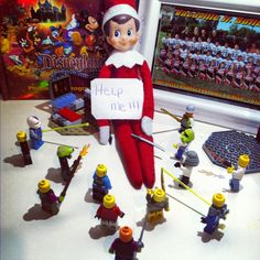 Elf on the shelf Lego Surrender... Day two.