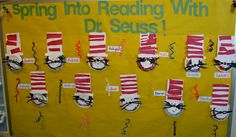 "Dr. Seuss Bulletin Board. Child directed responses captured for classic, ""Cat in the Hat"""
