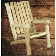 Rustic Natural Cedar High Back Log Arm Chair