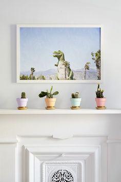 Palm Springs-inspired mantel