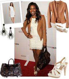Gabrielle Union Taking a cue from Spring's crochet and lace trend.
