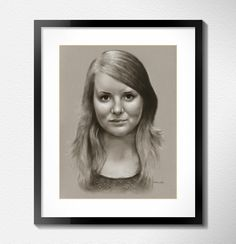 Professional custom handmade girl portrait from photo by Jacek Jaśkowiak PortraitBuy