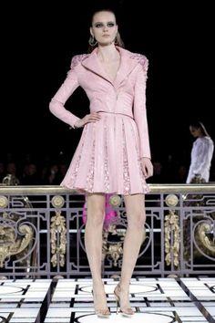 Pastel Pink Biker Jacket @Versace Versace Atelier Spring Summer Couture 2013 Paris #Fashion