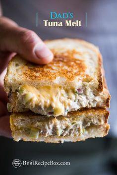 Cheesy Tuna Melt Grilled tuna cheese sandwiches aka grilled tuna melt sandwiches are awesome. DadGrilled tuna cheese sandwiches aka grilled tuna melt sandwiches are awesome. Tuna Melt Sandwich, Grill Cheese Sandwich Recipes, Deli Sandwiches, Tuna Melts, Grilled Sandwich, Soup And Sandwich, Tuna Melt Wrap Recipe, Vegan Sandwiches, Chicken Sandwich