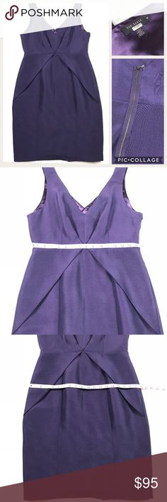 Ted Baker Dress, purple, size 4 This dress is in great condition! No rips or stains, great detail and perfect for a holiday party! Ted Baker Dresses