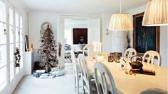 christmas decoration Nordic House decorated for Christmas velas, candles