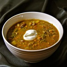 Polish Lentil Soup Recipe, really good with leek, caraway seeds, garlic, and a smoked ham hock.  From Polska Foods: http://www.polskafoods.com/polish-recipes/lentil-soup-recipe