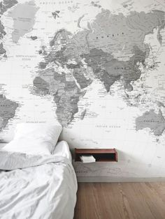 11 larger than life wall murals pinterest bedrooms room and house this is one of our favourite map murals the black and white colour scheme would work well in most homes gumiabroncs Gallery