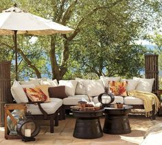 an outdoor living room