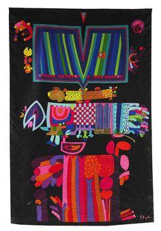 Stig Lindberg, textile design, 1950s. NKs Textilkammare, Sweden. via Jacksons.se