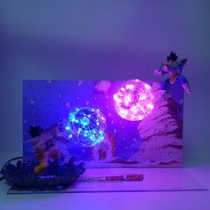 Dragon BALL Z personaggio GOKU Genki DAMA Spirit BOMB Cloud FAI DA TE LED Luce Set