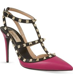 VALENTINO - Rockstud 100 t-bar heeled sandals | Selfridges.com