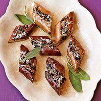 Mushroom-Stuffed Asian Eggplant - for dad. Goat cheese instead?