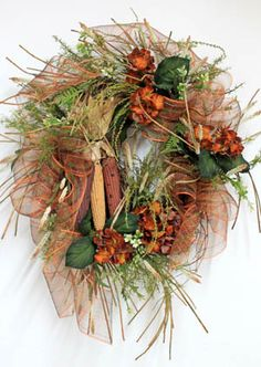 Autumn Indian Corn, Fall Wreath