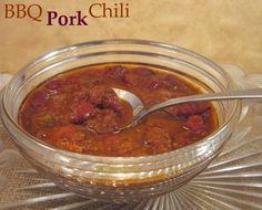 A delicious make-it-new recipe...BBQ Pork Chili!   #recipe #chili #porkrecipe #slowcooker