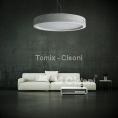 Lampa wisząca Omega betonowa 700, E27, 8 x max 23W (ZW108g 1171W7B/BETM) Cleoni