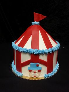 Cookie Jar Bakeshop I Custom Cakes I Birthday Cake I Circus Themed Birthday Cake I Juvenile Birthday Cake