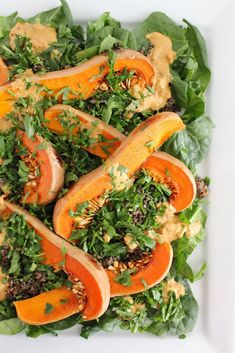 Spinach, Roasted Squash and Lentil Salad with Sundried Tomato and ...