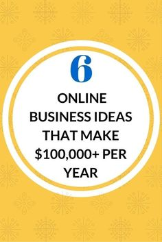 You don't need a list of 50 ways to start a business online. Here re 6 proven online business ideas that many people live off of and quit their jobs. Check them out here. #followback #onlinebusiness #startup