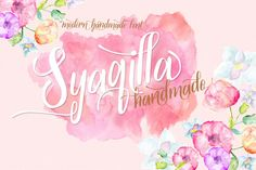 Syaqilla Handmade (45% off) by lostvoltype on Creative Market