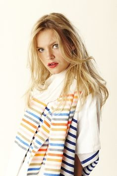 I love the simplicity of lemlem! Tullu Wrap by lemlem  - handwoven scarf made in Ethiopia.