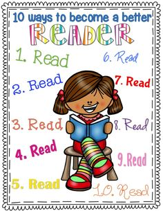 {FREEBIE} 10 Ways to become a better reader!