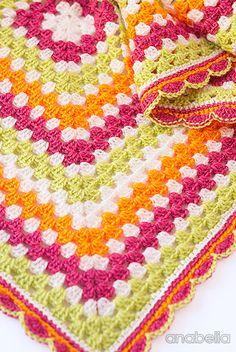 Sofia crochet baby blanket, PDF pattern