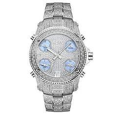 38070b60671 JBW Men s Quartz 2.34 ct. Diamond Watch - 18K White Gold