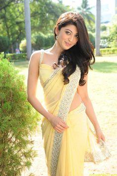 Hot Pranitha Latest Photo Gallery in Yellow Saree - Actress Album Beautiful Girl Indian, Beautiful Girl Image, Most Beautiful Indian Actress, Beautiful Saree, Beautiful Women, Indian Dresses, Indian Outfits, Yellow Saree, Saree Photoshoot