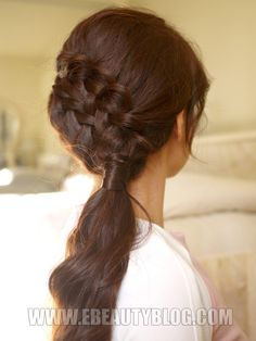 EbeautyBlog.com: Hair Tutorial: Double Braided Sidedo for Medium to Long Hair