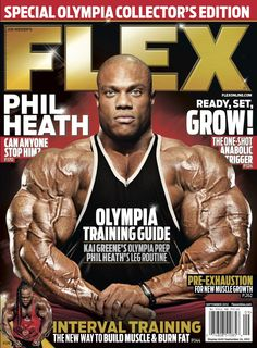 Flex Magazine cover September 2012 featuring Phil Heath #fitness #bodybuilding #exercise